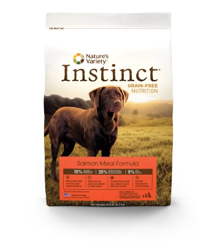 Instinct Grain-Free Salmon Meal Dry Dog Food by Nature's Variety, 25.3-Pound Package, My Pet Supplies