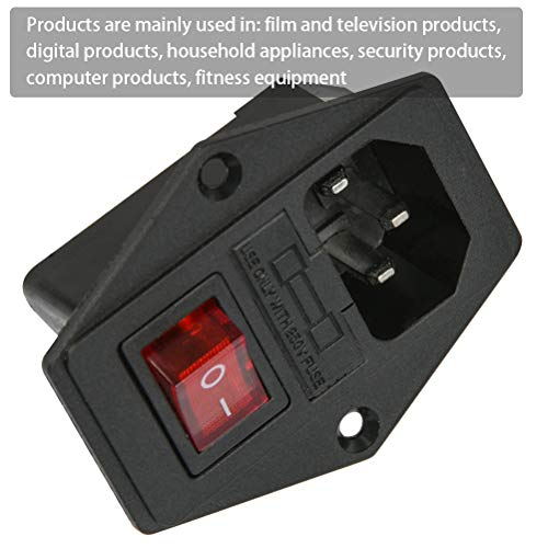 4pcs 3 pin IEC320 C14 Inlet modulo Plug Fuse Interruttore maschio Presa 10A 250V