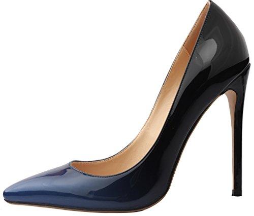 col Vaneel Tacco 12CM Tacco Donna Scivolare su Gradient Scarpe BlueBlack Calzature Vaaloe A Spillo wzvwrqf