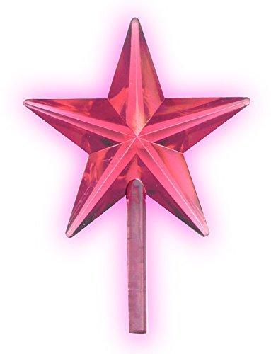 National Artcraft Transparent Pink Stars For Ceramic Christmas Trees (5 Pcs)