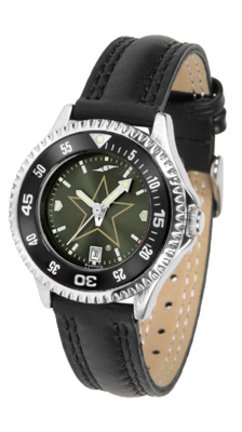 SunTime Vanderbilt Commodores Competitor Ladies AnoChrome Watch with Leather Band and Colored Bezel