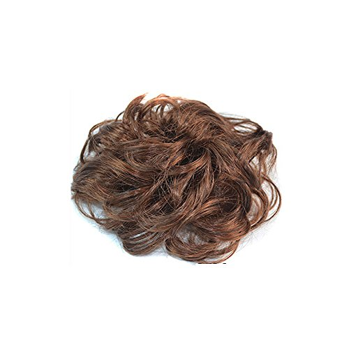 - Wigico Scrunchie/Scrunchy Bun Up Do Hair piece Hair Ribbon Ponytail Extensions Wavy Curly or Messy //Ladies Synthetic Wavy Curly or Messy Dish Hair Bun Extension Hairpiece Scrunchie Chignon Tray Ponytail (Light Brown)