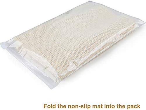 rollo de agarre antideslizante de PVC de 200 x 200cm hogar y oficina alfombrilla de revestimiento antideslizante agarre de alfombra portaequipajes para techo Alfombrilla antideslizante Blanco