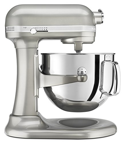 KitchenAid RKSM7581SR  7 Qt Bowl Lift Stand Mixer, Silver