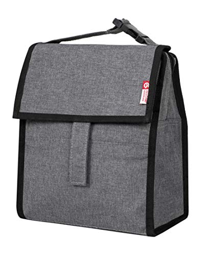 - Folding mini lunch tote with zip closure, for adults and child (upgraded version of grey)