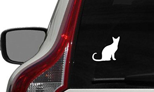 Cat Silhouette Cartoon Version 2 Car Vinyl Sticker Decal Bumper Sticker for Auto Cars Trucks Windshield Custom Walls Windows Ipad Macbook Laptop and More -