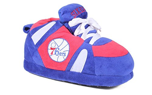 PSS01-5 - Philadelphia 76ers - 2XL - Happy Feet Mens and Womens NBA Slippers