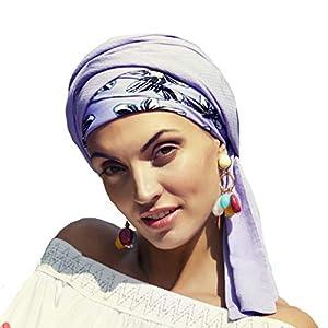 Boho Spirit Headwear Espectacular Turbante Sapphire con su Banda Amovible y Ajustable - Disponible en 3 tonalidades | DeHippies.com