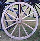 Cheap Decorative – Wood Wagon Wheel – 30 Inch x 2 Inch Steam Bent Hickory Wagon Wheel with wooden hub