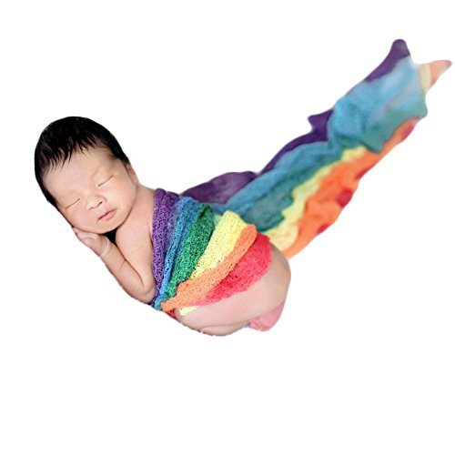 Zeroest Newborn Photo Shoot Props Baby Photography Blanket Infant Photos Outfits Flexible Rainbow Wrap