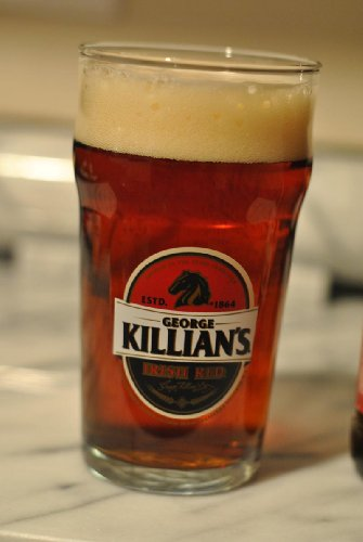 Killians Irish Red Pint Glass with Laser Etched Logo | Set of 2 Glasses