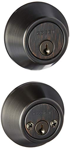 Ez Set Tuscany Bronze - EZ-Set Philadelphia Hardware 231017 Double Cylinder Deadbolt, Tuscany Bronze