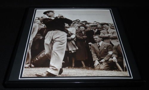 Ben Hogan 1953 British Open Framed 12x12 Photo Poster