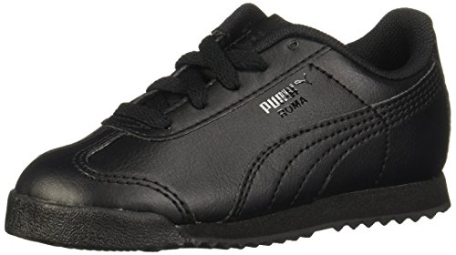 PUMA Roma Basic Kids Sneaker (Toddler/Little Kid/Big Kid) , Black/Black, 10 M US Toddler (Best Black Friday Deals For Sneakers)