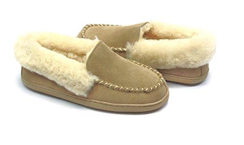 Zapatillas de mujer beige Hüttenschuhe por beige sand Lammfell s6x para casa estar SUPER ztInZqwn