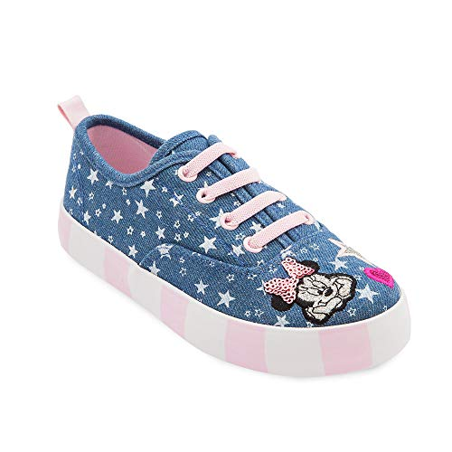 Disney Minnie Mouse Denim Sneakers for Girls]()