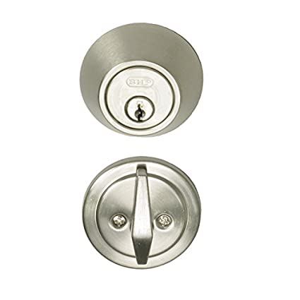 Incroyable Better Home Products Cylinder Deadbolt, Single, Satin Nickel