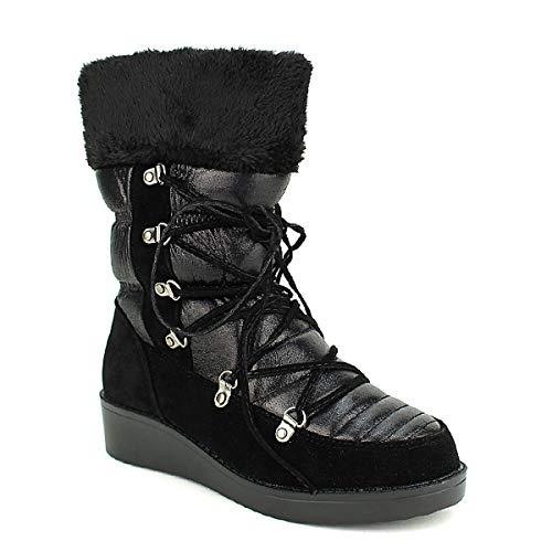 Femme Cendriyon Catisa Boots Monts Noires Chaussures Noir Fourrées vvBHq6wR