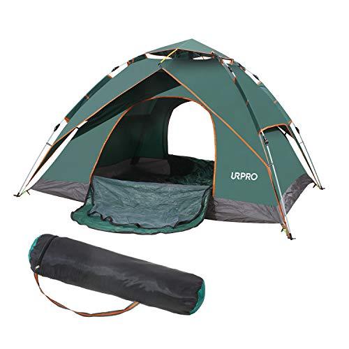スツール剣チート3-5人のサンシェードテントキャンプのタップは、ハイキング、キャンプ、旅行、ピクニック、その他の屋外活動のための2つのドアのメッシュ2層をポップアップCT2410G