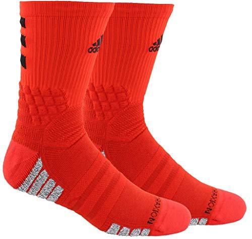 b45248e81 adidas Creator 365 Basketball Crew Socks (1-Pack), Active Red/Black/White,  6.5-9