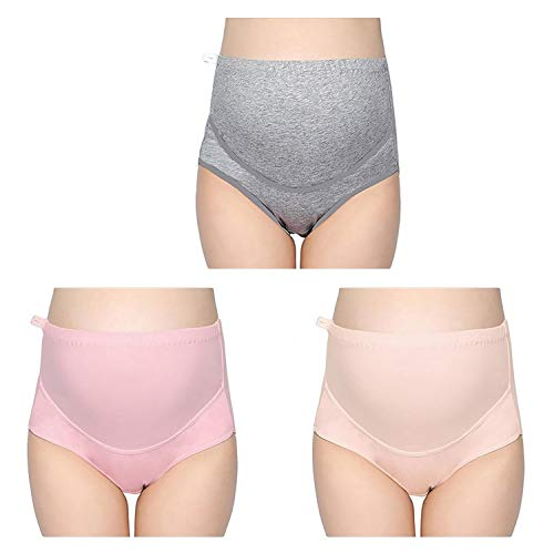 (LOVE YANQI Womens 3 Pack Soft Cotton Maternity & Nursing Panties/Underwear for Pregnant High Waist Double)