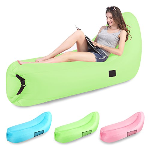 Inflatable Lounger,Aonsen Portable Air Sofa 2 Pockets Easy Inflating Waterproof Ideal for Home Outdoor Beach (Buy Bean Bag Chairs)