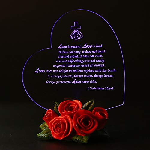 Giftgarden The True Meaning of Love LED Light Heart Decor for Friendship Gifts, -