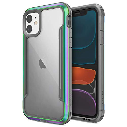 Defense Shield, iPhone 11 Case - Military Grade Drop Tested, Anodized Aluminum, TPU, and Polycarbonate Protective Case for Apple iPhone 11, (Iridescent) (Iphone 7 Plus Black Screen Of Death)