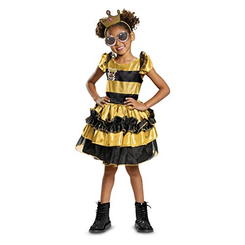 L.O.L. Surprise! Queen Bee Halloween Deluxe Costume MEDIUM 7-8 -