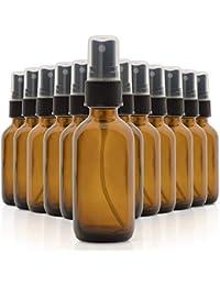 2oz Amber Glass Spray Bottles for Essential Oils (Value Pack (12 Pack)