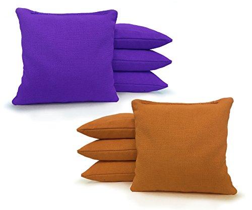 Regulation Cornhole Bags - Set of 8 - Corn Filled & Handmade 25+ COLOR OPTIONS