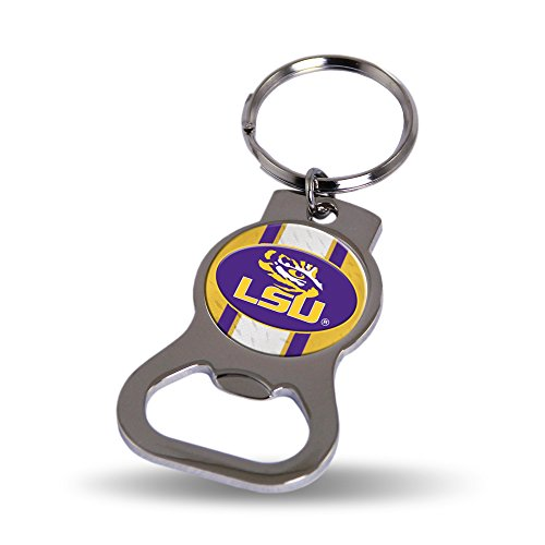 LSU Tigers Official NCAA 2 inch Bottle Opener Key Chain Keychain by Rico Industries (Bottle Keychain Opener Tigers)