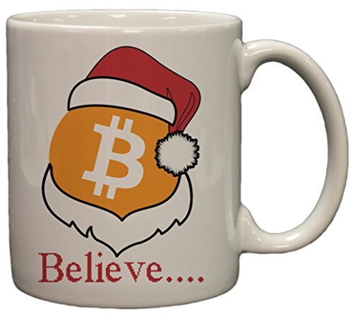 Bitcoin Logo W/ Santa Hat