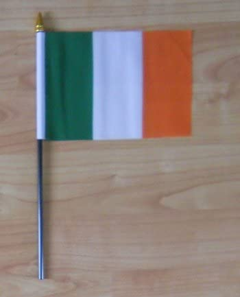 Ireland Country Hand Flag Small.