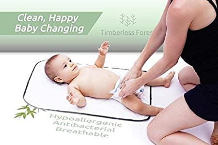 Amazon.com : Bamboo Changing Pad Liners-Wipeable Changing Pad Cover-Waterproof Baby Diaper Changing Table Pad Mats : Baby