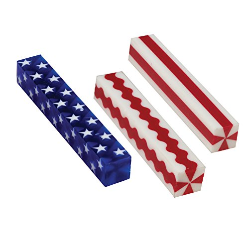 (Penn State Industries Stars & Stripes Acrylic Pen Blanks Mixed Styles (15pack))