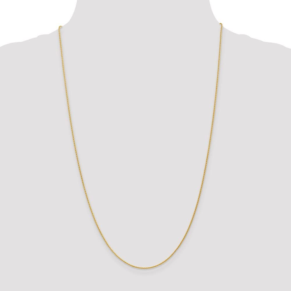 14K Yellow Gold 1.2mm Parisian Wheat Chain Necklace