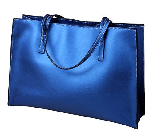 Shefetch Women's Fashion Zip Large Tote Handbag Blue One size