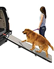 Wide Folding Dog Ramp - Perfect For Old, Small, And Large Dogs That Have Problems Getting In And Out Of Minivans - Compact And Portable