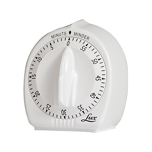 - Lux Minute Minder Timer Mechanical White With Black Markings 60 Min by Lux