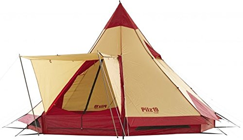 Ogawa Campal Pilz 19 10 Tent - 10 Person, 2 Pilz 19 Red