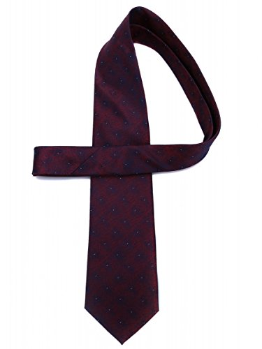 Men Sk08 for with pattern Violet Blue woven Classical silk White and Prettystern tie elegant OCqWgz