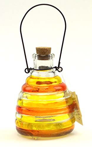 wasp-trap-colorful-glass-no-pesticide-wasp-hornet-yellow-jacket-traporange-yellow