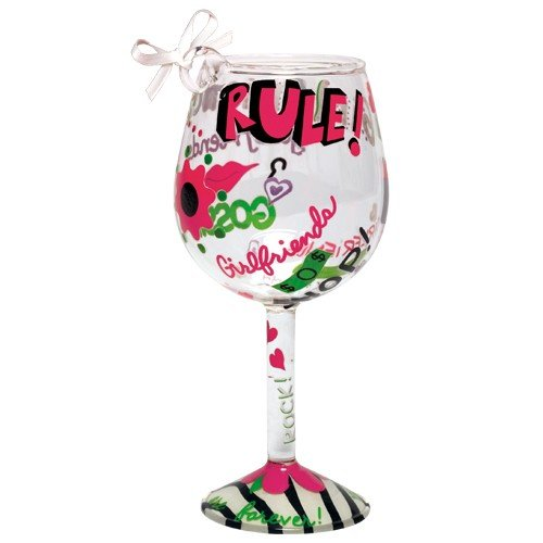 Santa Barbara Design Studio Lolita Holiday Mini-Wine Ornament, Girlfriends Rule -