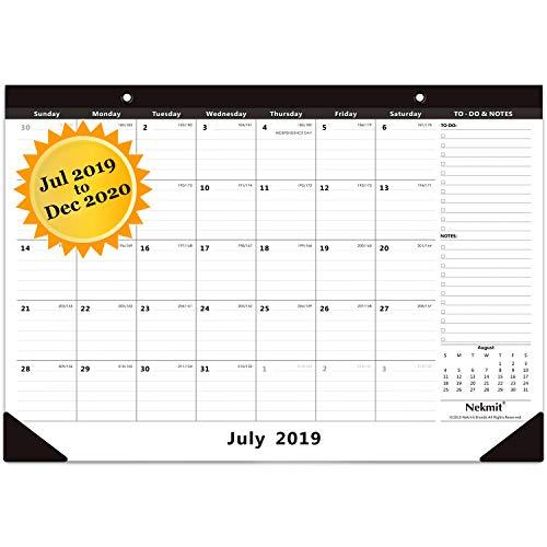 2010 Business Calendar - Nekmit 2019-2020 Academic Year Monthly Desk Pad Calendar, Ruled Blocks, 16-3/4