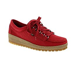 Mephisto Women's Lady Sportbuck Red Ladies Lace Up Shoe