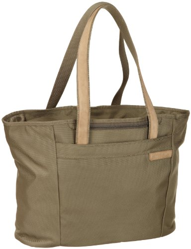 Briggs & Riley Baseline Large Shopping Tote,Olive,13x17x7.3 by Briggs & Riley (Image #1)