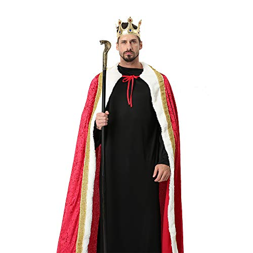 Winter Fantasy Halloween Costumes Cape Velvet King Queen Regal Robe Costume -