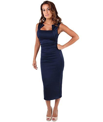 KRISP Bodycon Dress (6872-NVY-12)