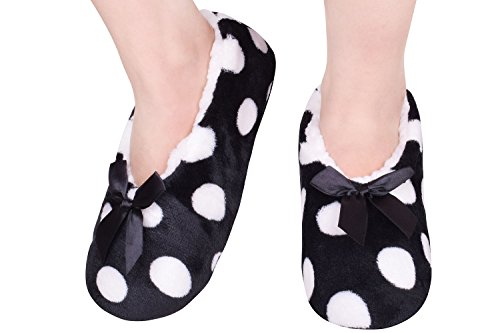 Black Boot Slippers Ladies Winter Slippers Indoor Shoes Slippers Size7-9 Black